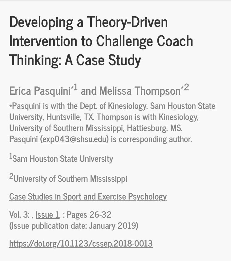 Case Studies in Sport and Exercise Psychology (@CSSEPJournal