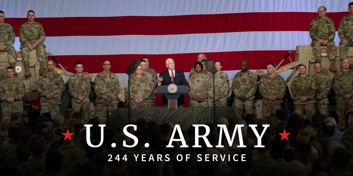 Happy Birthday to the @USArmy and thank you to all of the incredible men and women who sacrifice everything so that we may live in a free and safe country! #ArmyBday