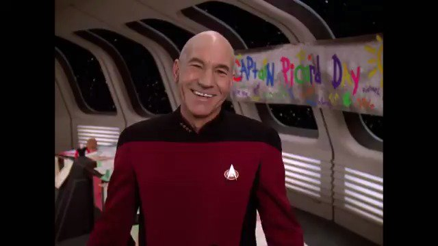 Happy #PicardDay, @SirPatStew! Reply with your favorite Picard GIF to wish him a great day, ahead of #StarTrekPicards premiere on @CBSAllAccess.