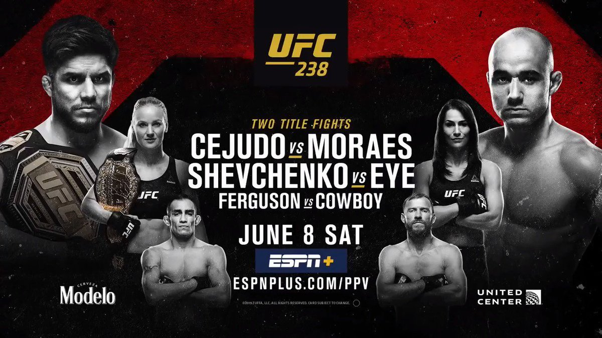 Video: Fight Motion Highlights From UFC 238: Cejudo Vs. Moraes - https://www.themix.net/2019/06/video-fight-motion-highlights-from-ufc-238-cejudo-vs-moraes/ … #FightMotion #HenryCejudo #Ufc238