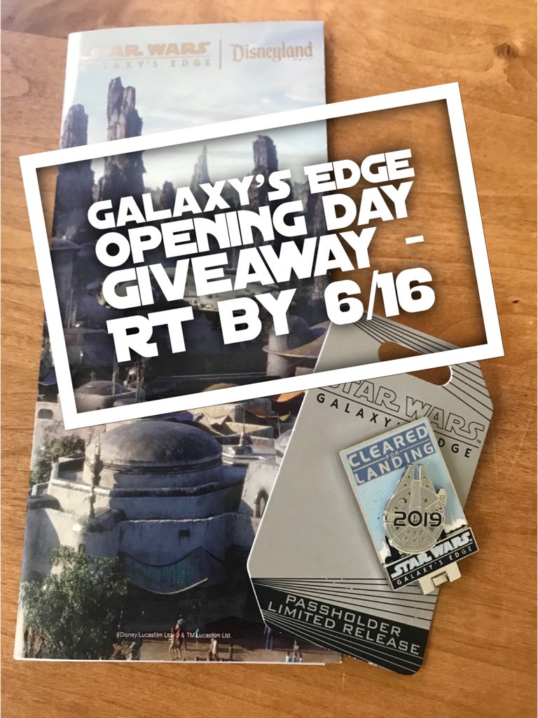 #GalaxysEdge giveaway! Exclusive Passholder pin, and opening day map! RT by 6/16, US/Canada only