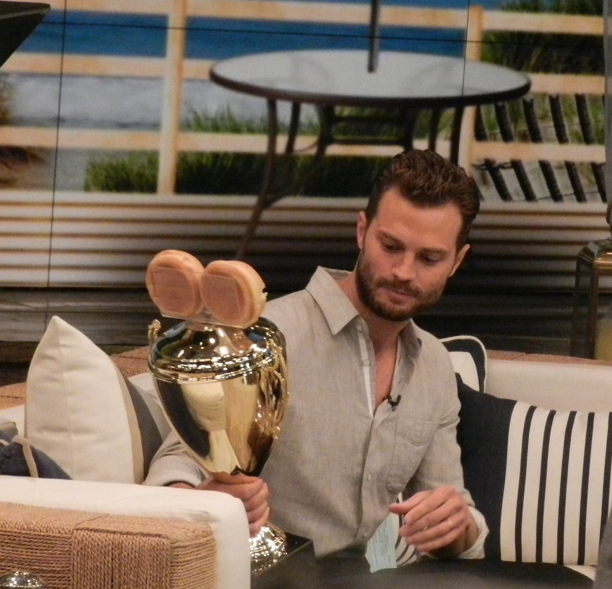 """Jamie on """"Live! With Kelly""""! (August 5, 2016) #FlashbackFriday #JamieDornan<br>http://pic.twitter.com/9Q3dSkH9wO"""