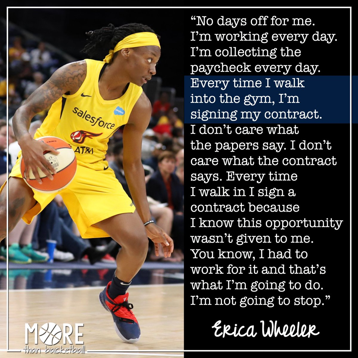 I love @EWeezy_For3eezy's commitment to herself, her game, and her team. She is third in the WNBA in assists (40) and is currently an impressive 55.7% in FG%. . #fever20 #indianafever #allforlove