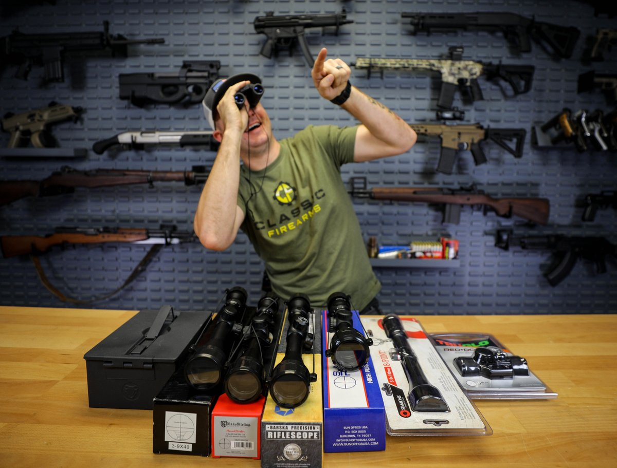 Wonder what Clint is looking at in this pic🤔 What we do know is that he's showing off some of our cool deal of the week products! You can shop a variety of optic deals by heading over to our website. Act quickly though, the deals end tonight!