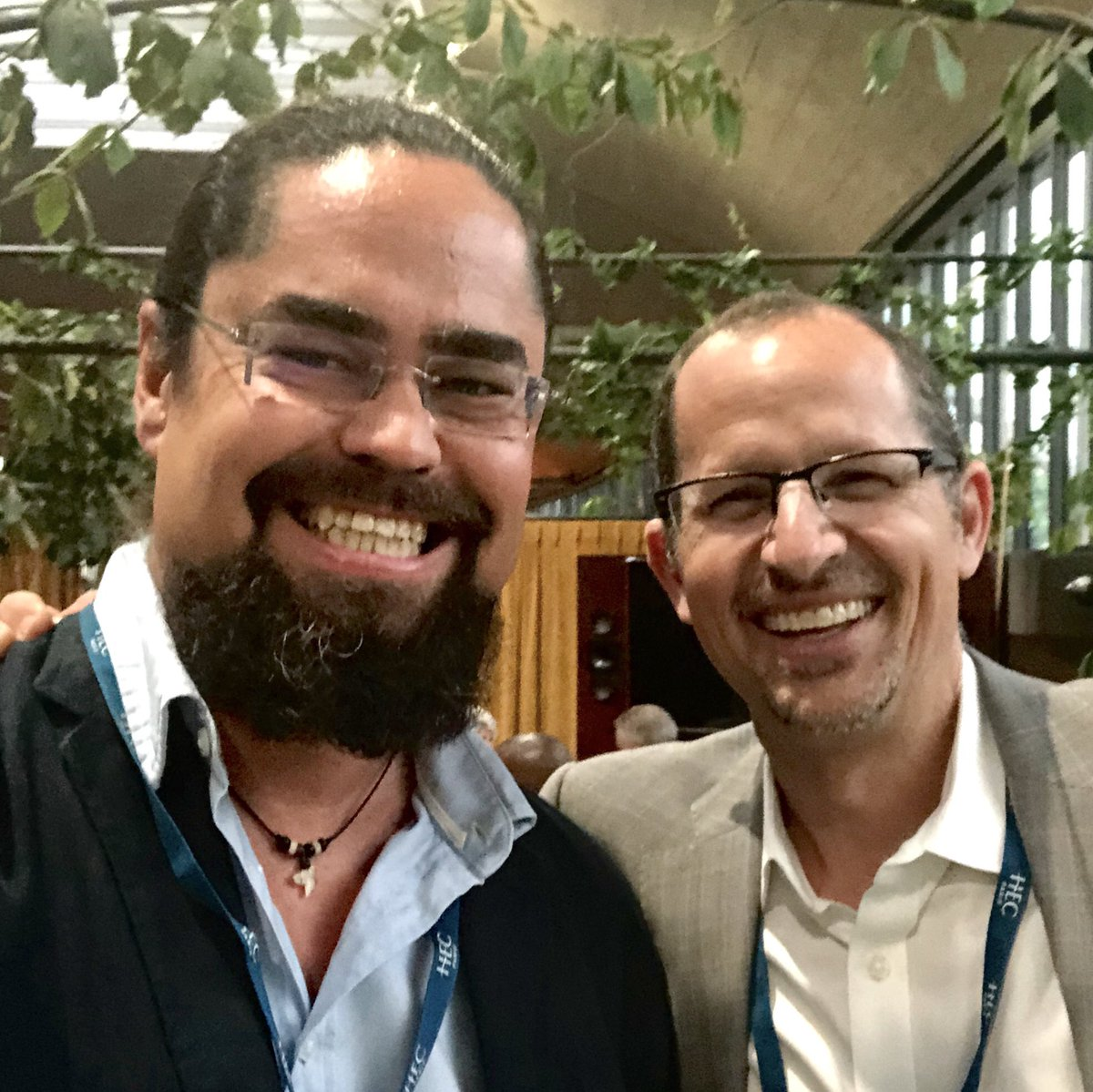 With Jeff Maggiocalda @coursera CEO merci @HECParis – at La Felicità