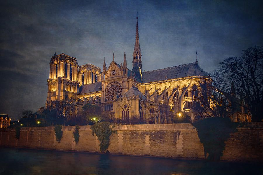 Notre Dame On The Seine Textured buff.ly/2t309HH #NotreDame #Paris #france #travel #tourism #cathedral #night #nightphotography #church #basilica @joancarroll