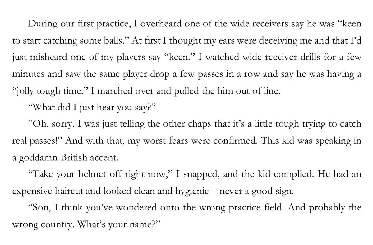 """The story of when I discovered I'd accidentally drafted a British Exchange Student - """"Lord Stonehands"""" on my youth football team:"""