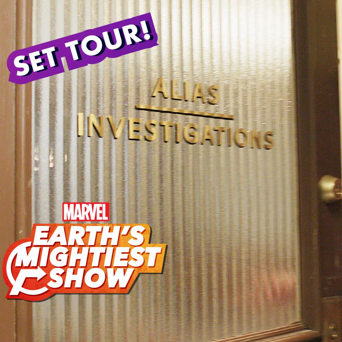 """.@LorraineCink takes us behind the scenes on a set tour of """"Marvel's #JessicaJones"""" Season 3, streaming now on Netflix! Watch: http://bit.ly/31xfccX #EarthsMightiestShow"""