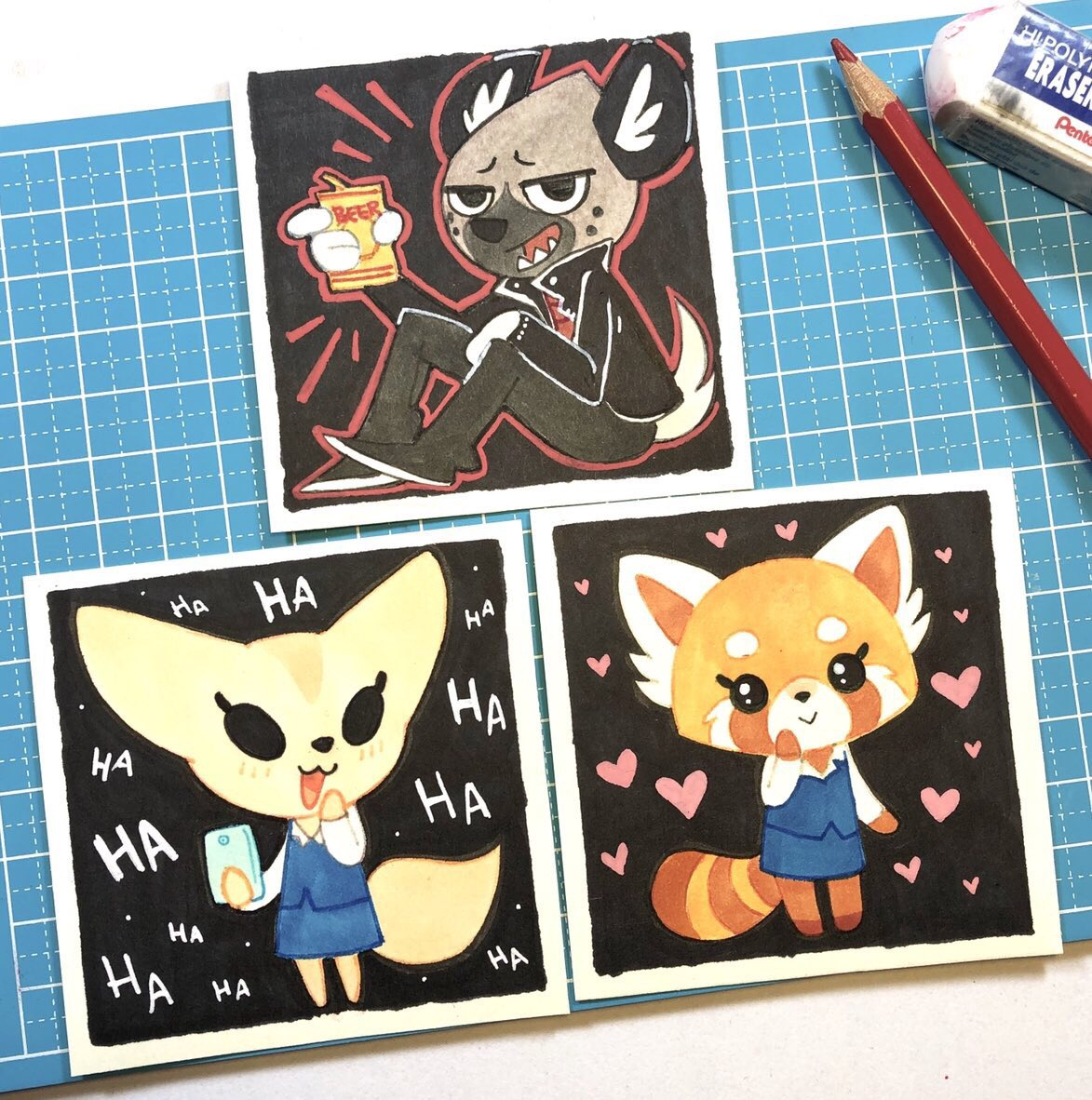 Who is is binge watching #Aggretsuko season 2 this weekend? I know I am!! 3 minis that found homes at WONDERCon in March #FlashbackFriday <br>http://pic.twitter.com/6r5sV0gmyY