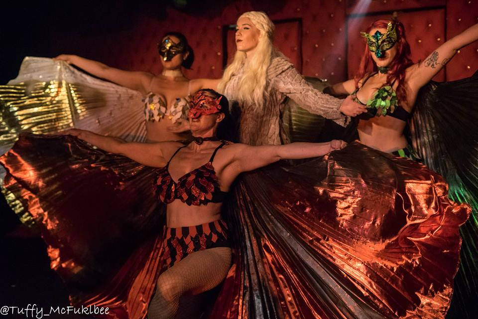 """Come enjoy your favorite Game of Thrones characters in the """"Dirty Little Secrets"""" LIVE burlesque show, hosted by George R. R. Martin's, Jean Cocteau Cinema, at The Pop Theater, located at the Armory for the Arts! This show will SELL FAST! Tickets at http://jeancocteaucinema.com"""