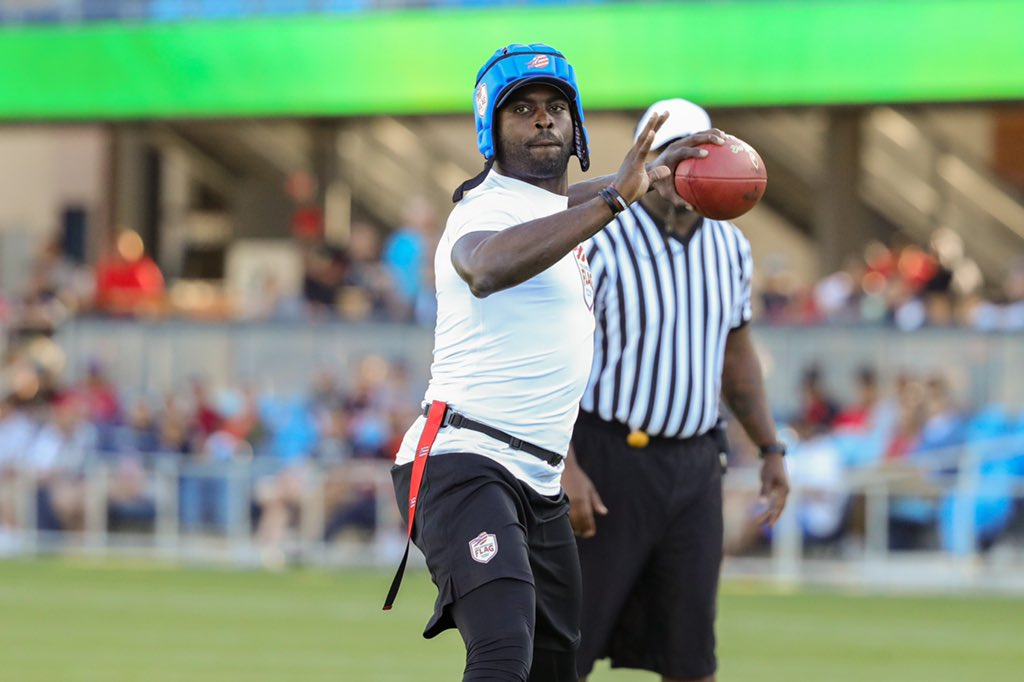 The @flagfootball season comes to an end this weekend in Florham Park, NJ, on the Jets campus, where the remaining amateur teams will battle for the right to play @michaelvick, @nate_robinson, @j_avant81 & @dannywuerffel.