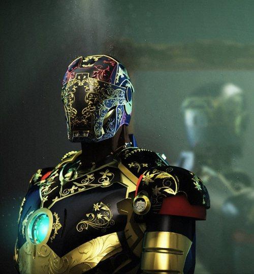 Steampunk Iron Man By Andy Jones #IronMan #comics #fantasyart #Heroes #steampunk