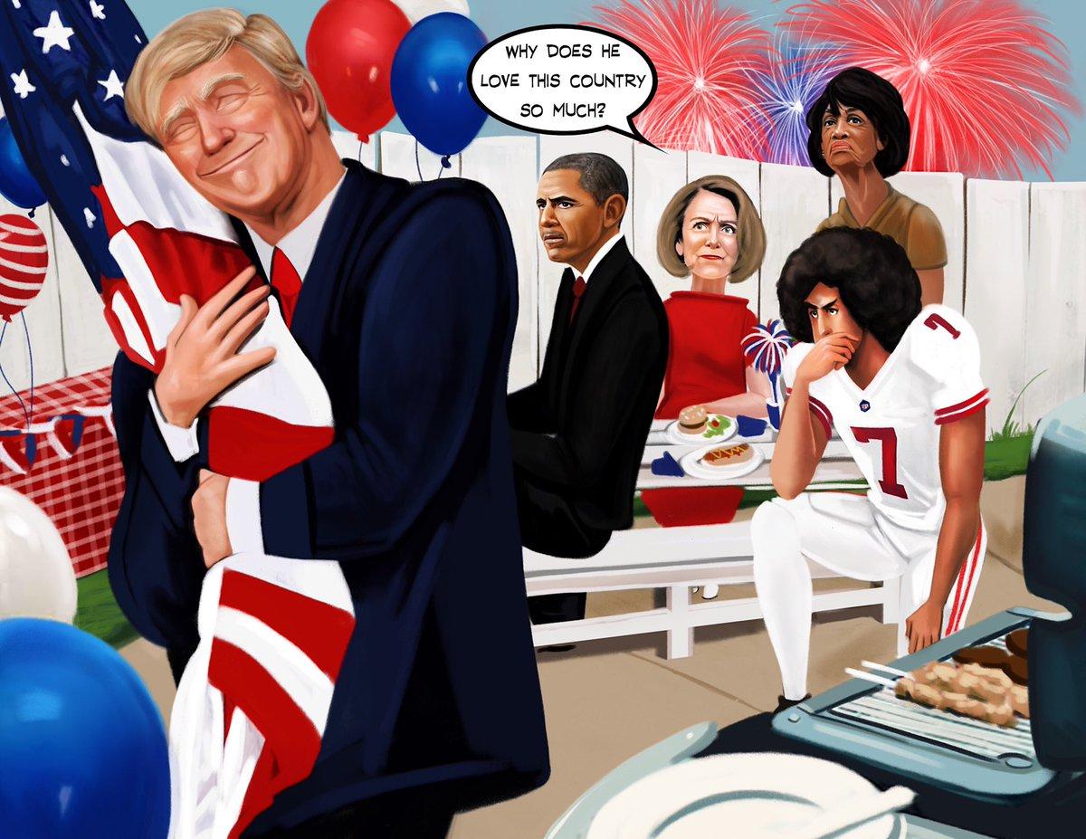 We know @realDonaldTrump loves flag day! NotMyPresidentCalendar.com