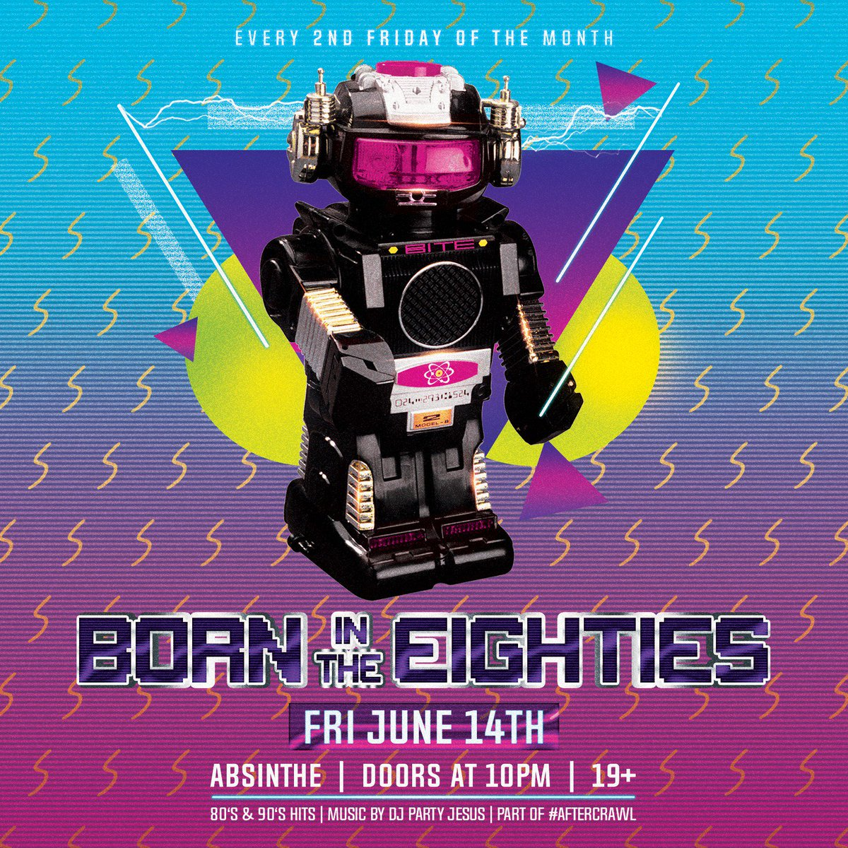 TONIGHT! Hop into the wayback playback machine and join us for our monthly #aftercrawl with your fave 80's and 90's cover band BORN IN THE EIGHTIES. Music and visuals as always by DJ PARTY JESUS. Don't stop believin' #hamont