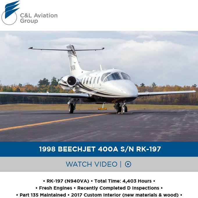 One-of-a-kind #Beechjet #400A available at @CLAviationGroup  2017 custom interior Part 135 maintained More details at: http://ow.ly/taVY30oWDkd  #bizjet #bizav #aircraftforsale #privatejet #privateflying #jetforsale #businessaviation