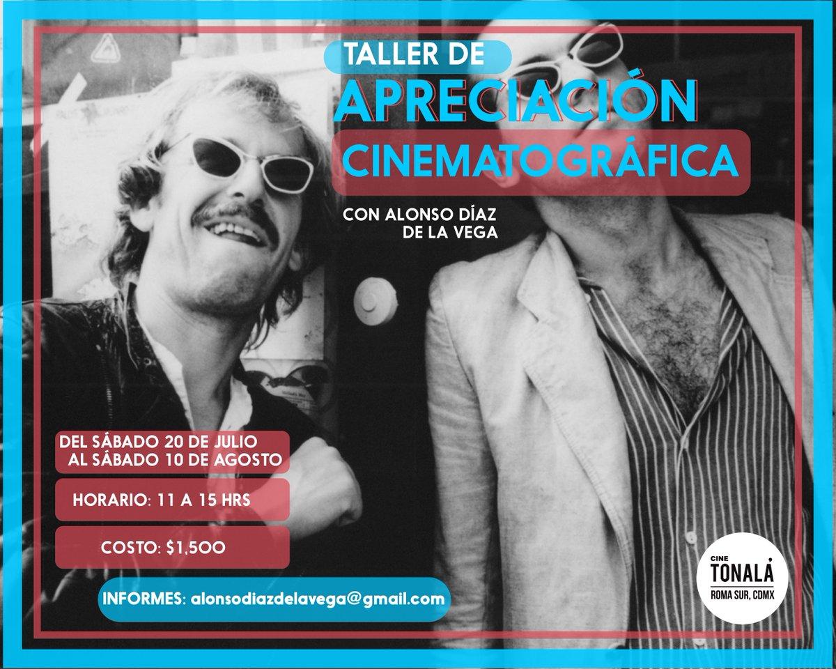 """🔥 Inscríbete hoy mismo a nuestro taller de """"Apreciación Cinematográfica"""" con @diazdelavega1 🔥 ➡️  https://buff.ly/2MOhhxG"""