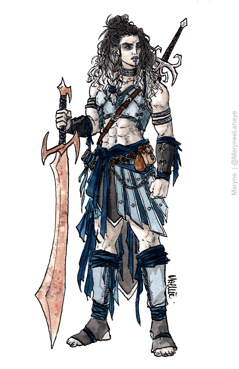 big swords for a big woman #CriticalRole <br>http://pic.twitter.com/QGQw99kXID