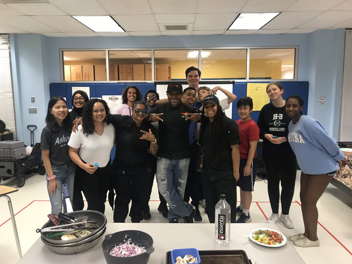It's Junetime! Culture Shock day 1: cultural cooking with KitchenCray's Chef Jojo & his team! <a target='_blank' href='http://search.twitter.com/search?q=loveHB'><a target='_blank' href='https://twitter.com/hashtag/loveHB?src=hash'>#loveHB</a></a> <a target='_blank' href='http://twitter.com/HBWProgram'>@HBWProgram</a> <a target='_blank' href='https://t.co/UkYOtLTs6E'>https://t.co/UkYOtLTs6E</a>
