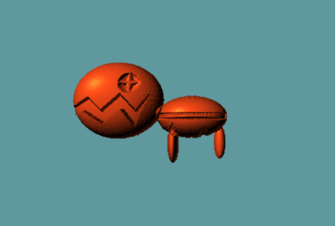 I havent used any 3d modelling programmes for about 4 years. heres the best trapinch ive ever seen in my life. #ポケモン5分モデリング