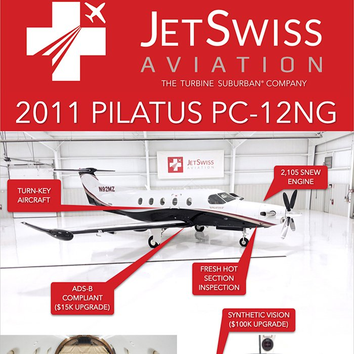 Turn-key 2011 #Pilatus #PC-12NG available at @JetSwissPilatus  Fresh hot section inspection ADS-B compliant ($15k upgrade) More details at: http://ow.ly/N2m130oWDvP  #bizjet #bizav #aircraftforsale #privatejet #privateflying #jetforsale #businessaviation