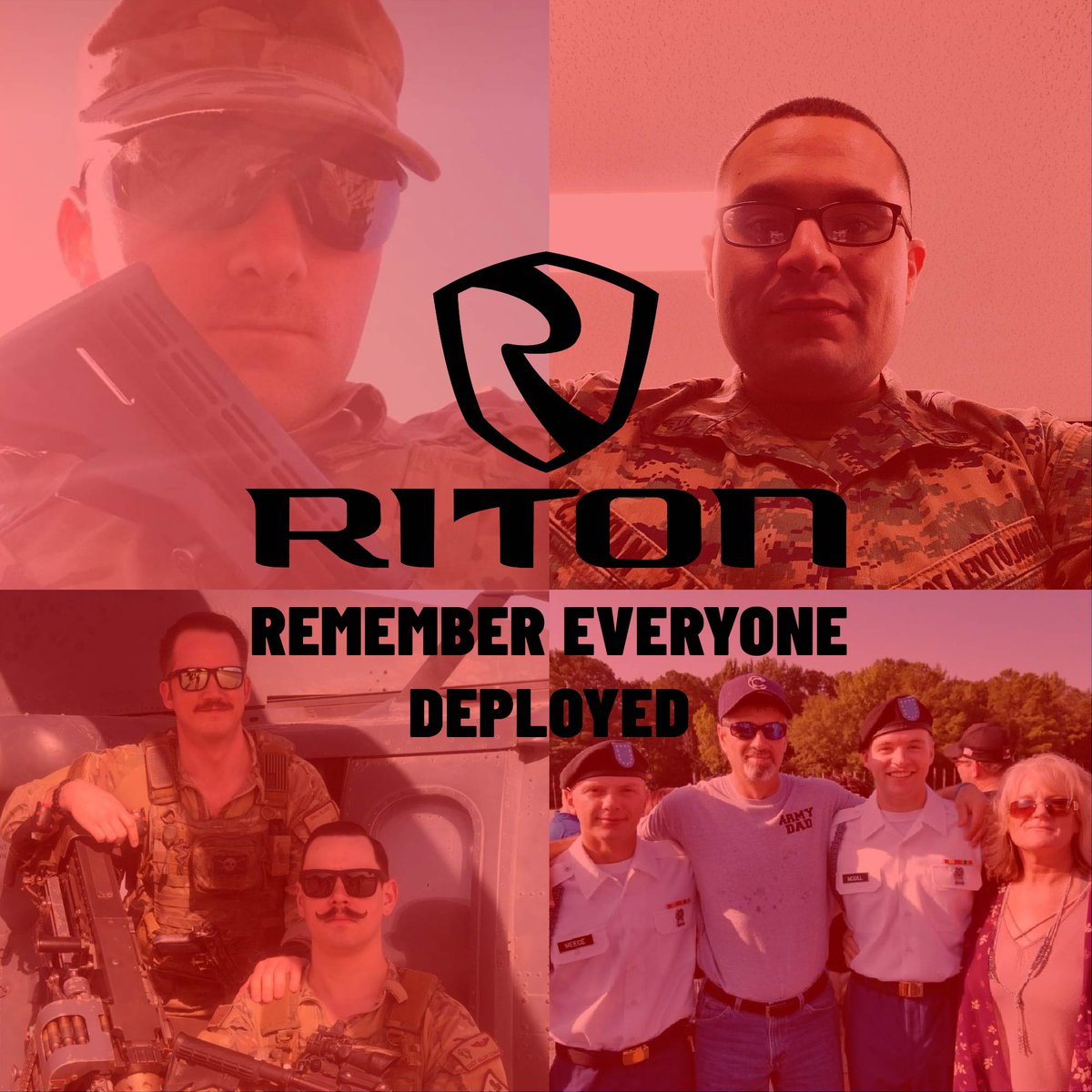R.E.D. Friday is important to us at Riton Optics as we remember that there are men and women who are serving our country and protecting our freedoms! If you would like to add someone you know go ahead and shoot us a DM with their photo and we will add them! #redfriday #military<br>http://pic.twitter.com/XzarDGAs1I