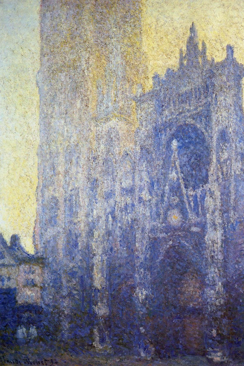 Rouen Cathedral, the Portal, Morning Effect, 1894 #monet #frenchart<br>http://pic.twitter.com/4ZHuuJEXyQ