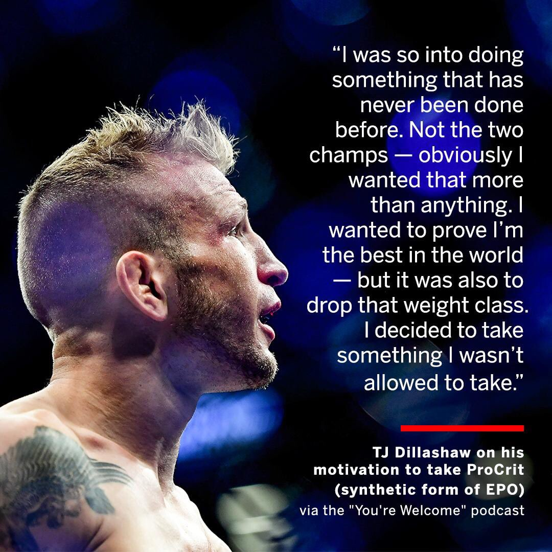 Fuck that! I was a huge fan of this guy!  And I'm a big 155!  I'm around 190-185 I cut down to 155! And couple times during diet on training camp and cutting weight I feel like shit but that's no excuse to cheat 🐍 💉