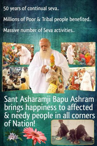 Sant Shri #AsaramBapu Ji is also known as 'Saint 4 Humanity' as he dedicated his whole life for the welfare of the mankind.... #SelflessSewaByAshram  #LifeSketchOfAsaramBapuJi  #SaintForHumanity  #SaturdayMotivation<br>http://pic.twitter.com/JlPueQG1mf