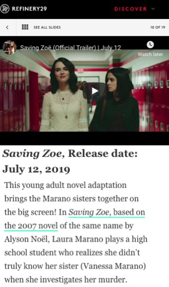 Thanks @Refinery29 for the Saving Zoe shout out! 👏🏼 refinery29.com/en-us/2019/06/…