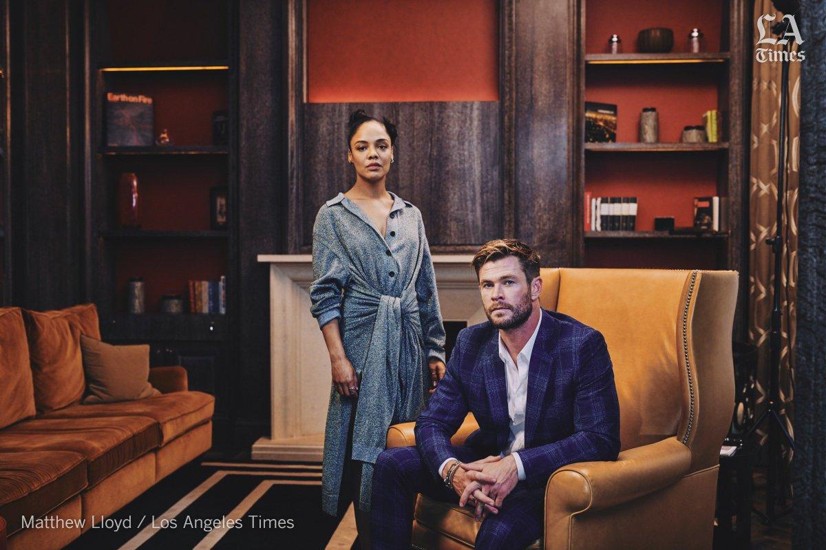 Tessa Thompson and Chris Hemsworth build on 'Avengers' chemistry for 'Men in Black' https://lat.ms/2KKMgIy