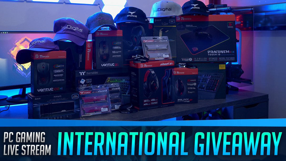PC Gaming Live Stream International Giveaway Enter the Giveaway here: https://furypixel.com/giveaway/   #giveaway #internationalgiveaway @teamgroupinc @ttesports @Thermaltake @LUXA2 #gamers #gaming #pcgaming #livestream #streamers