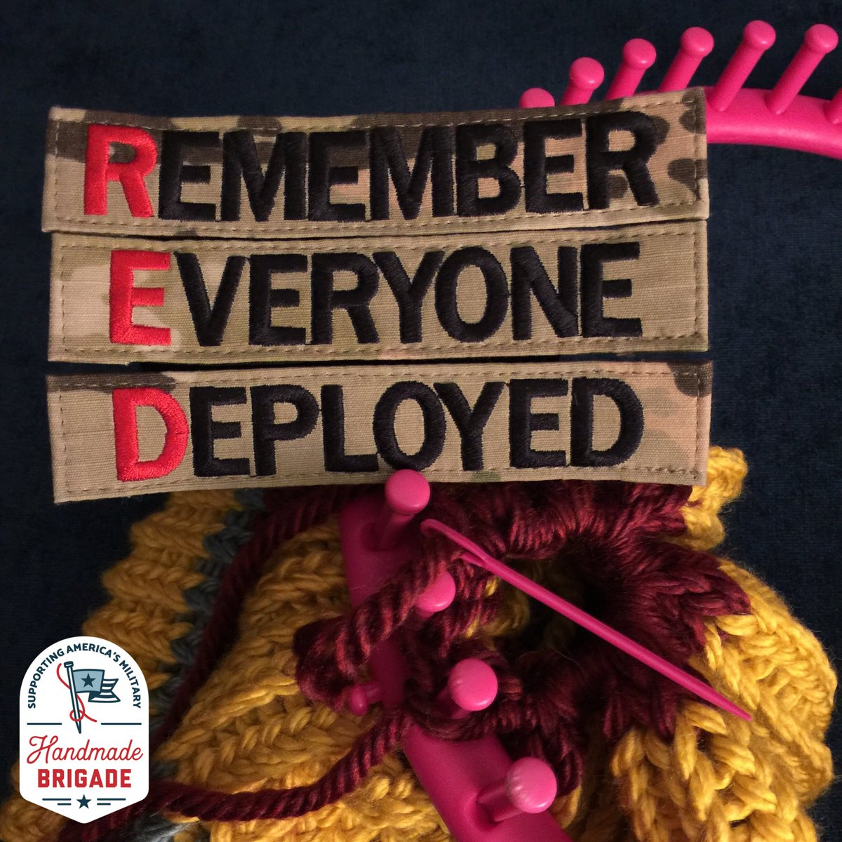 Winding down our 1st NC #REDFriday by cinching up another hat for our #BeaniesForBaghdad campaign   Our #handmade items will be winging their way to U.S. military personnel deployed overseas in the Fall thanks to our partnership with the incredible nonprofit @bunkerstweets <br>http://pic.twitter.com/x8t2xBO6Zp