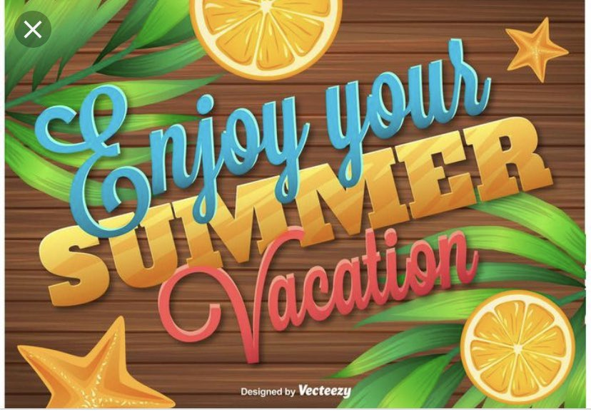 We really hope you all enjoy your summer vacation. The PTSA is taking a vacation too. We will be glad to see what everyone has twitted when we get back after July 4th.