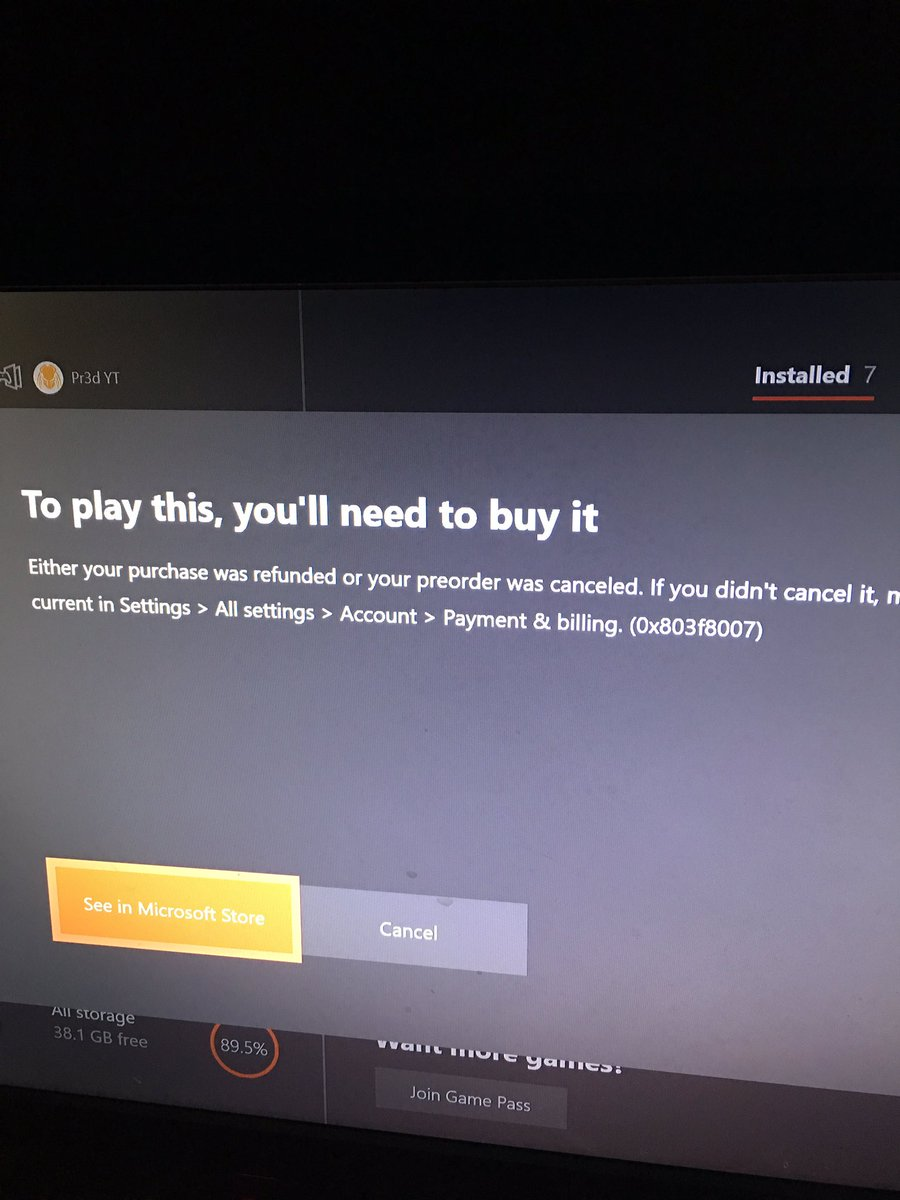 Can't even play it saying I need to buy the game
