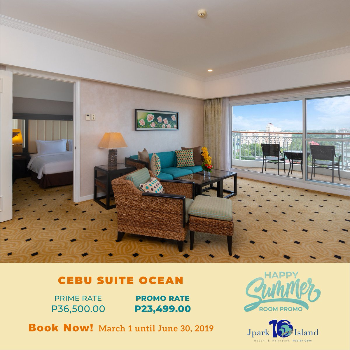 Live luxuriously while having fun when you stay at either the Cebu Suite or Cebu Suite Ocean!  Use the promo code SUMMER to avail our discounted rates!  For more details, click here: https://t.co/atg2VLnEHd  #MyJparkStory #WaterYouWaitingFor  #TenYearsOfJpark https://t.co/UCElHHnhSr