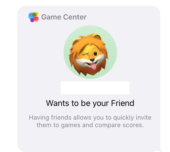 #GameCenter invite friends functions is back on #iOS13 and setting nickname and profile pic. iOS 12 devices are not allowed to accept the invitation @MacRumors @9to5mac @appleinsider