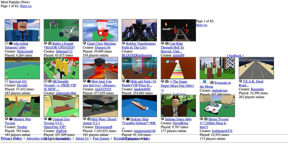 How To Make A Front Page Game On Roblox - Asimo3089 On Twitter I Miss These Old Games The Games We