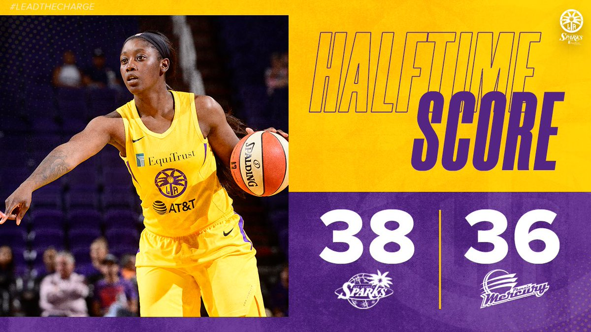 Winning at half😎  #GoSparks #LeadTheCharge