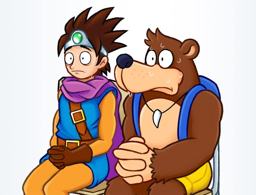 Erdrick and Banjo waiting for the Nintendo E3 Direct. #SmashBros #SmashBrosUltimate #SmashSummit #BanjoKazooie #BanjoInSmash #BanjoForSmash #E3 #E32019 https://t.co/iquqcvzEcL
