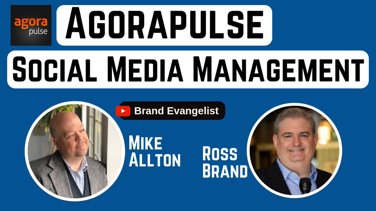 How to Save Time Managing Social Media with @agorapulse ft @mike_allton @BloggingBrute    🎬https://youtu.be/ina2yL5hOXs via @YouTube   #SMWL19 #agorapulse #HostYourShow #BeTheHost