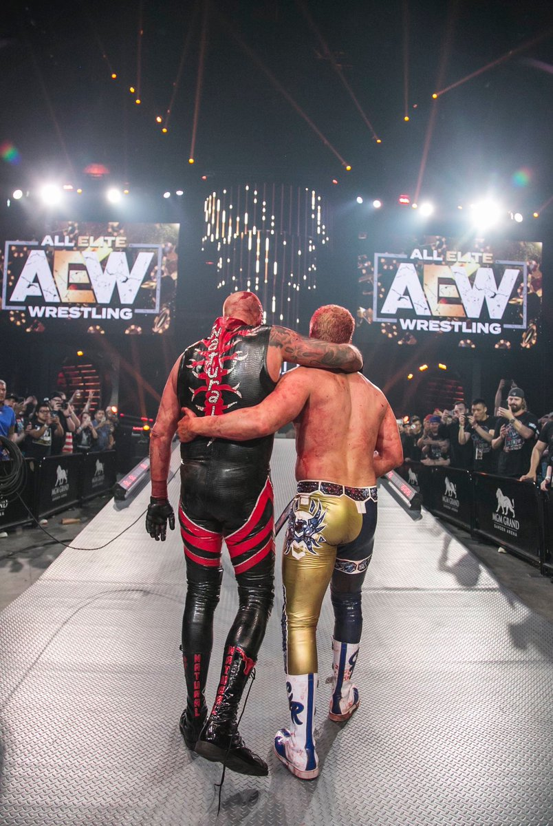 I love this picture. Two brothers after probably one of the best #wrestling matches I've ever seen. It was emotional and it was believable. #AEWDoN <br>http://pic.twitter.com/wKwk98rD53