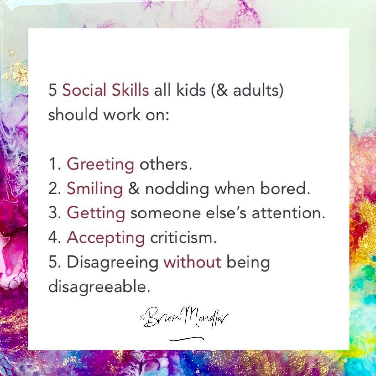 5 Social Skills all kids (& adults) should work on. #SEL #edchat #kidsdeserveit