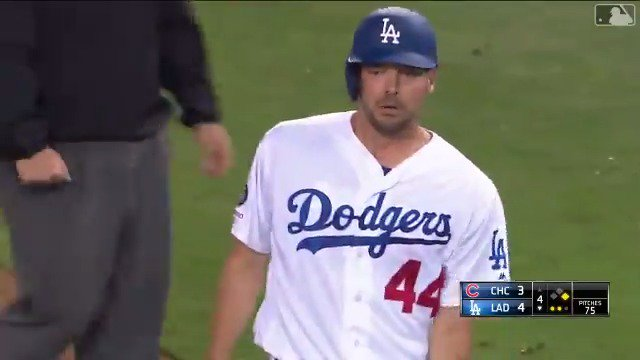 The Dodgers went wild for an RBI hit from unofficial team dad Rich Hill