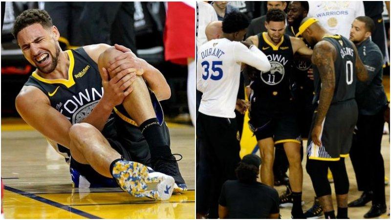 真的勇士!K湯受傷後還想打G7,做完檢查第一時間就問:我們贏了嗎?-Haters-黑特籃球NBA新聞影音圖片分享社區