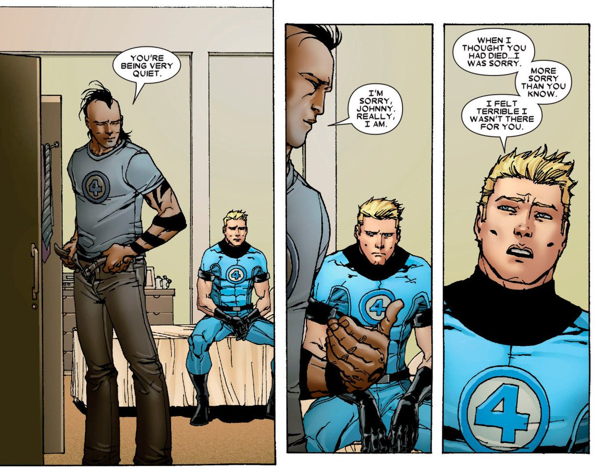 Its super hate over here so time to sleep. But before I do, here a some times when Johnny Storm didnt seem quite so straight...