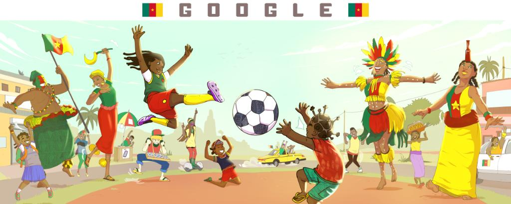 "Q: ""What does  mean to you personally?""  A: ""When I was little I used to play football with my friends, girls & boys! I still have a ball at home.""  —@reinedibussi Cameroon guest artist 1 of 24 artists celebrating  around the ! #GoogleDoodle →  http:// goo.gle/2F5jFtU     <br>http://pic.twitter.com/hDdzPPp5m0"