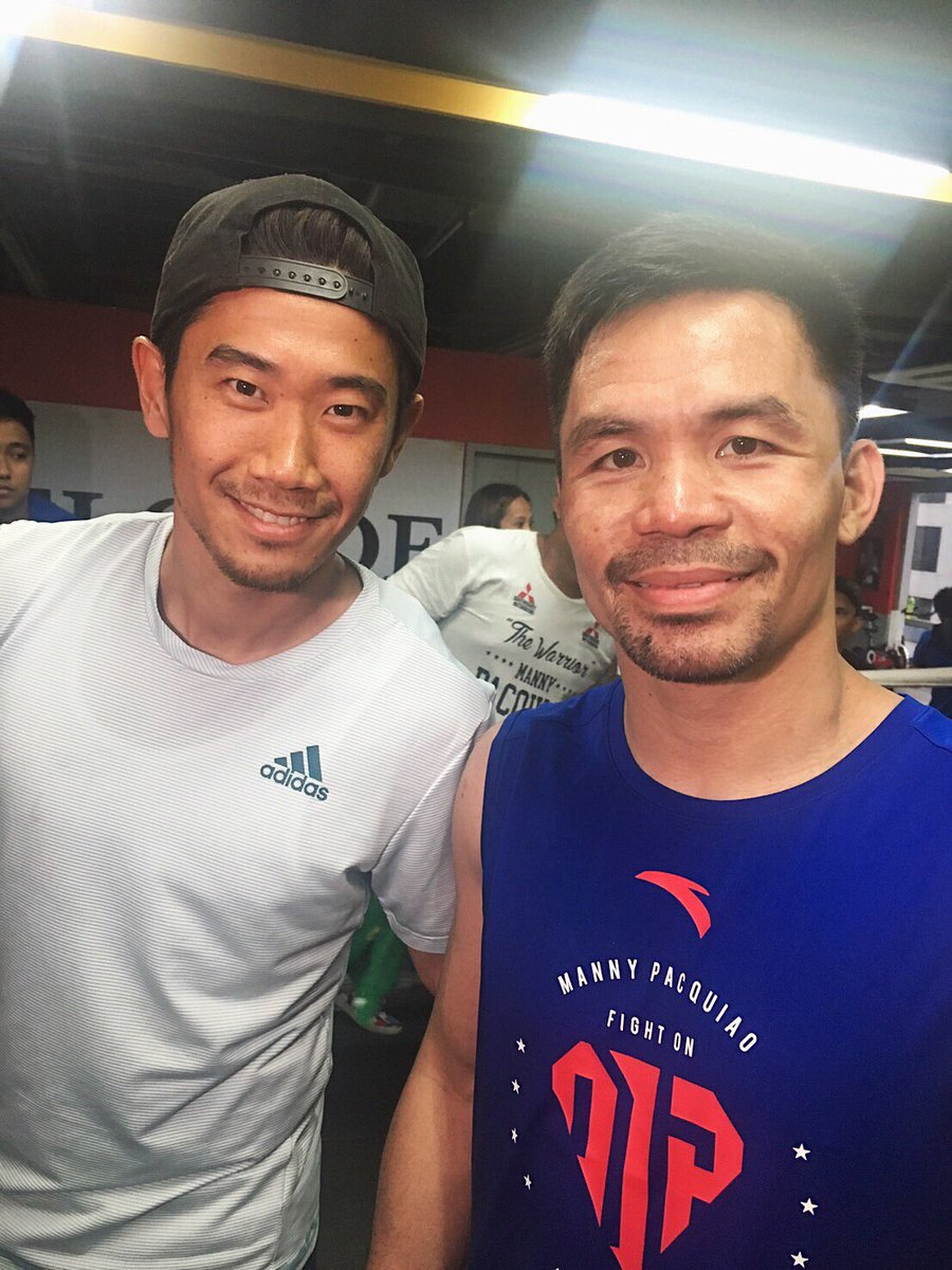 With @mannypacquiao  Thank you for having me champ💪🏻 #mannypacquiao