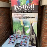 It's launch day! Come and see us at our stall outside the Assembly Rooms on North Street - we're here until 12pm, and the big launch event will be later today! #FestOfChi #Chichester #festival