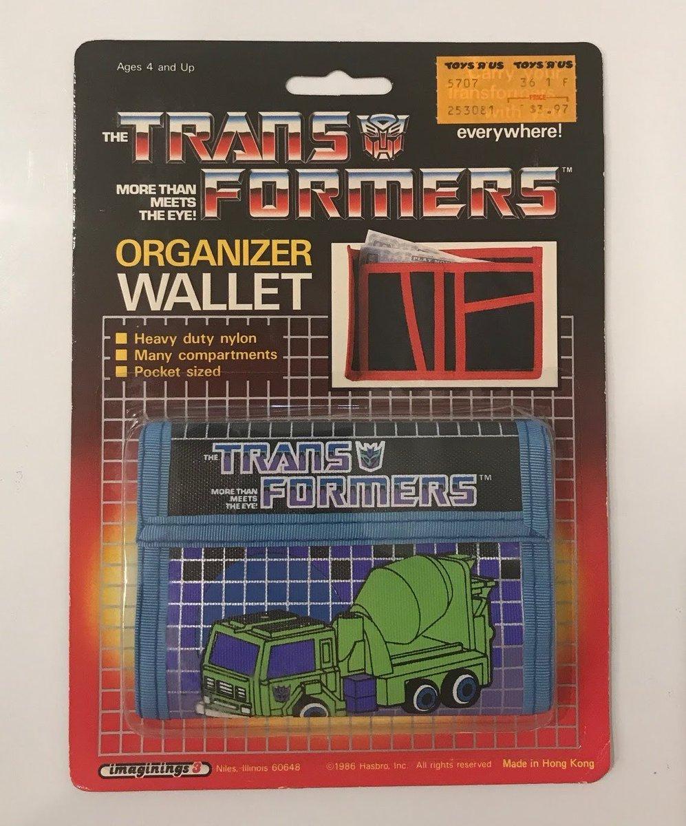 Mixmaster Organizer Wallet, $3.97 at Toys'R' Us. Imaginings3 1986 Hasbro USA. #transformers #g1 #mixmaster