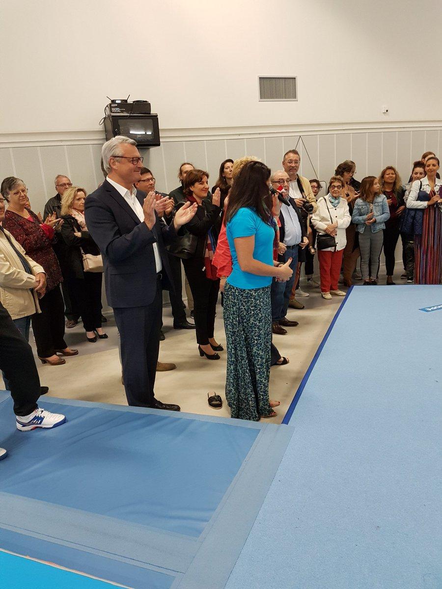#Inauguration de la nouvelle salle de #Gymnastique de #Lormont en présence du maire et de la #gymnaste Isabelle Severino. #gironde https://t.co/Qy7SdLdbIo